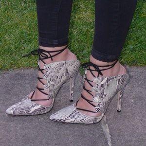 Topshop Zalando Gillian Ghillie heeled sandals